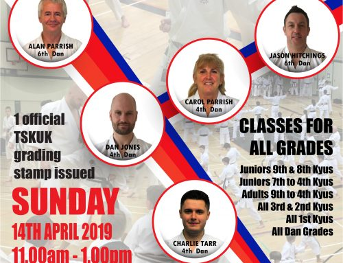 Free TSKUK 1 Day Course & 1st  / 2nd Dan Gradings