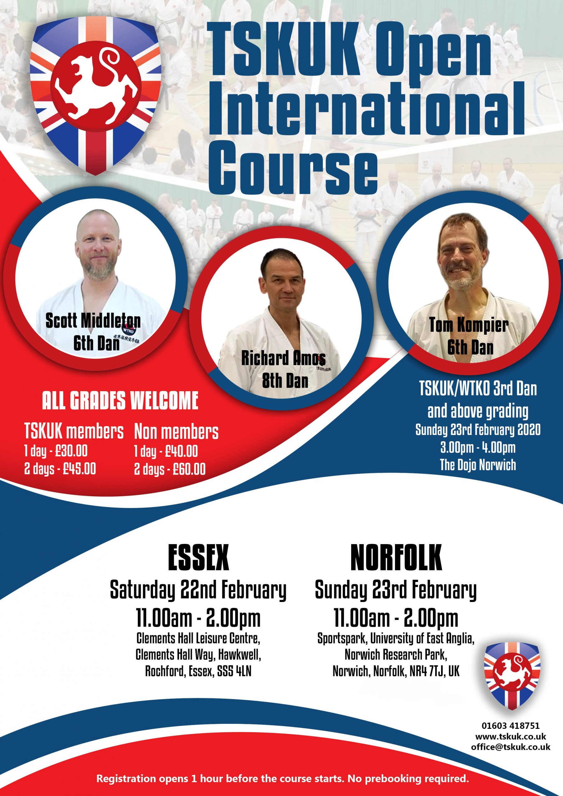 2020 Spring TSKUK 2 Day Open International Course